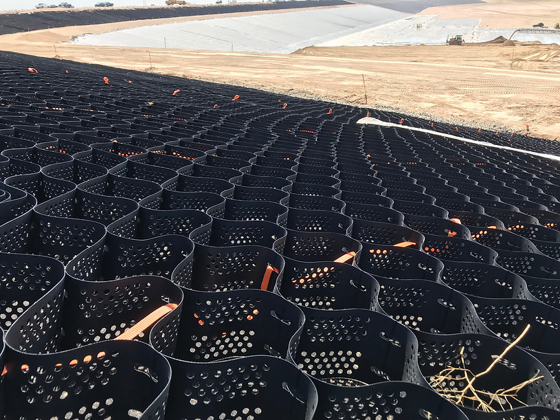 Channel and Geomembrane Protection Geocell