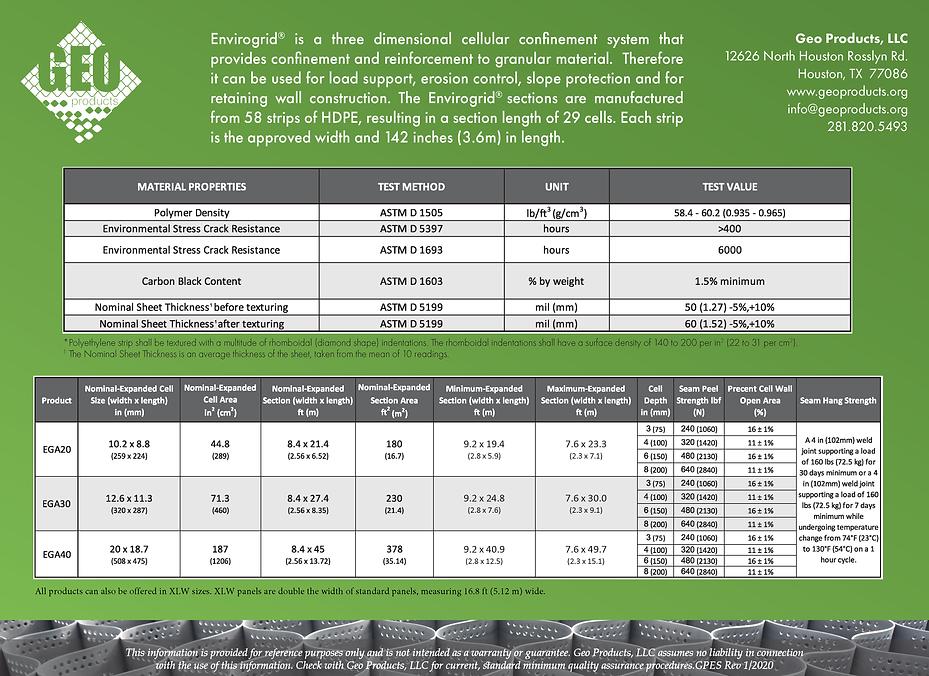EnviroGrid Specifications 2020 Horizonta
