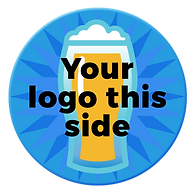 Coasters For A Cause | Your logo on this side