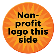 Coasters For A Cause | Non-profit logo on this side