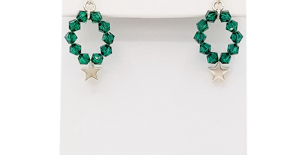 star earrings with Swarovski Crystals