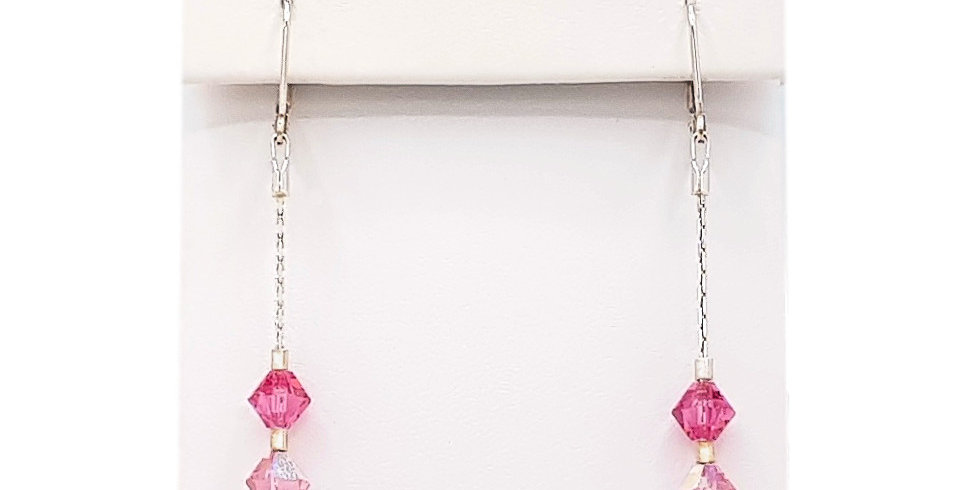 Swarovski crystals earrings front view