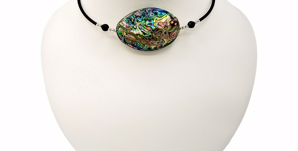abalone necklace front view