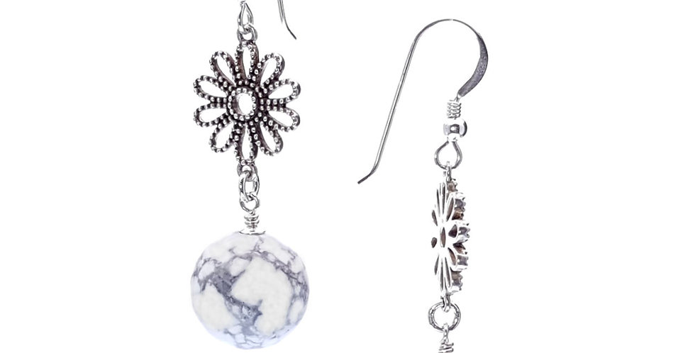 magnesite and sterling silver earrings