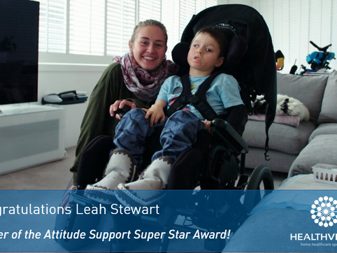 Leah Stewart wins an Attitude Award!
