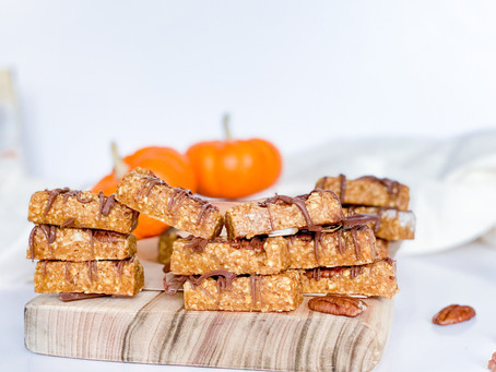 NO BAKE PUMKIN CARAMEL SLICES