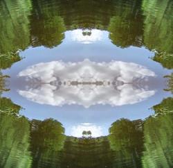 Verbindung zwischen Himmel und Erde
