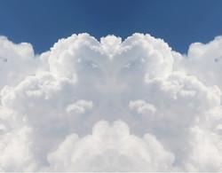 Blick aus den Wolken