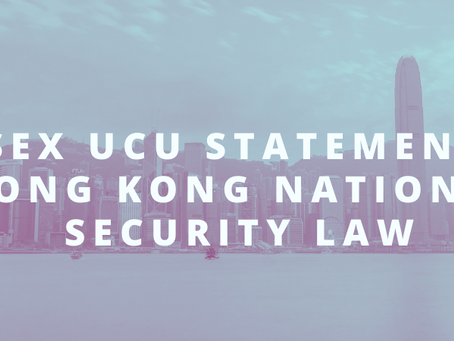 Sussex UCU statement on Hong Kong National Security Law