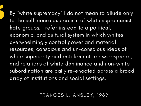 Dismantling White Supremacy at Sussex