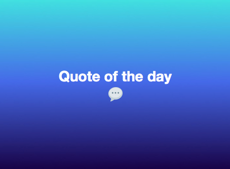 Quote for the day