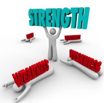 In weakness, strength!