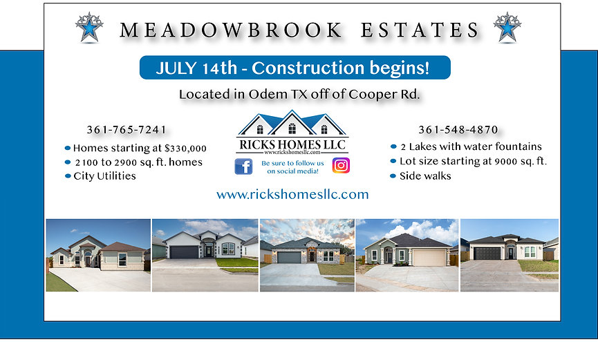 Meadowbrook Subdivision starting July 20