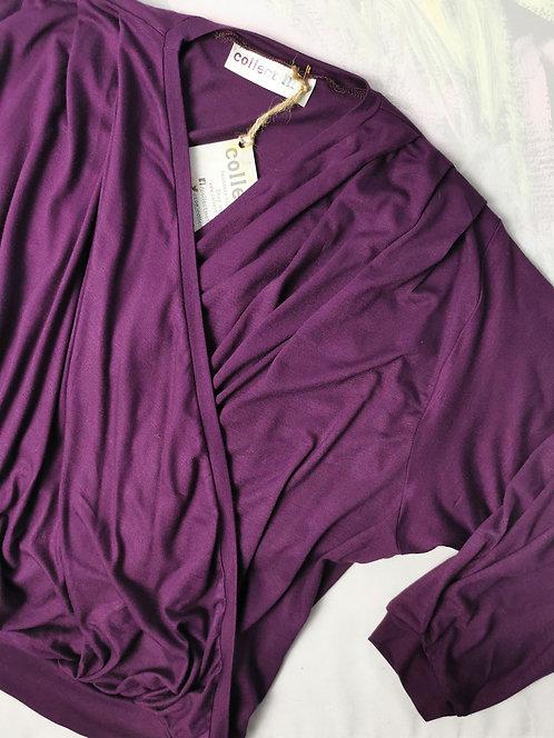 Deep Purple Dream Wrap Top - Size S