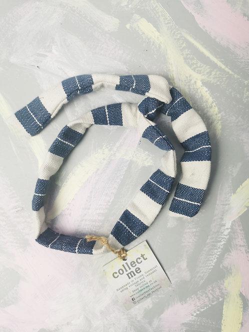 Twisty Wire Headband - Nautical Stripes