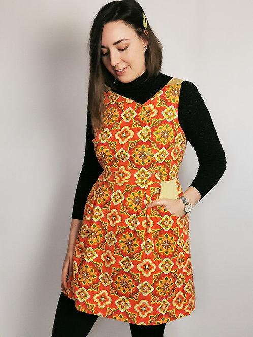 Orange Brights Pinafore Dress -Size 14
