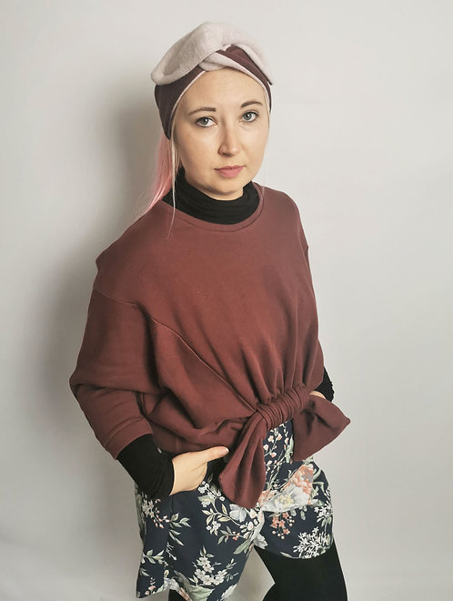 Cosy Organic Cotton Fleece Headband - Maroon