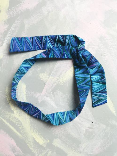 Twisty Wire Headband - Blue ZigZag