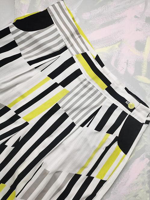 Neon Stripes Peg Leg Trousers - Size 18