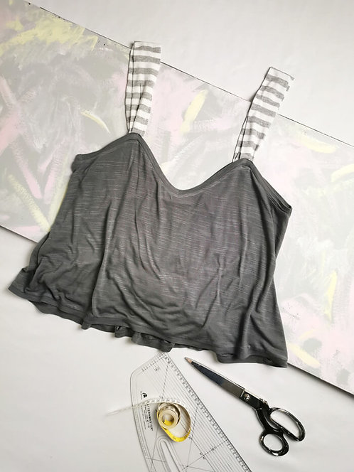 Soft Grey Gathered Camisole - Size M