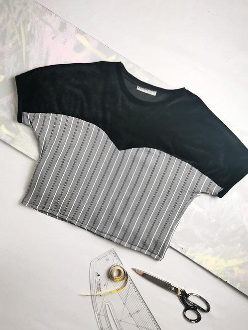 Velvet Stripes Heart T-Shirt - Size S