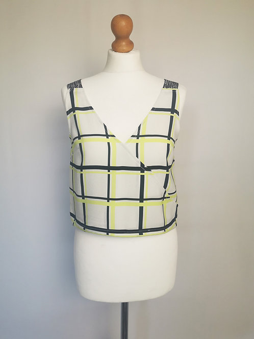 Lime Check Daydreamer Top - Size S