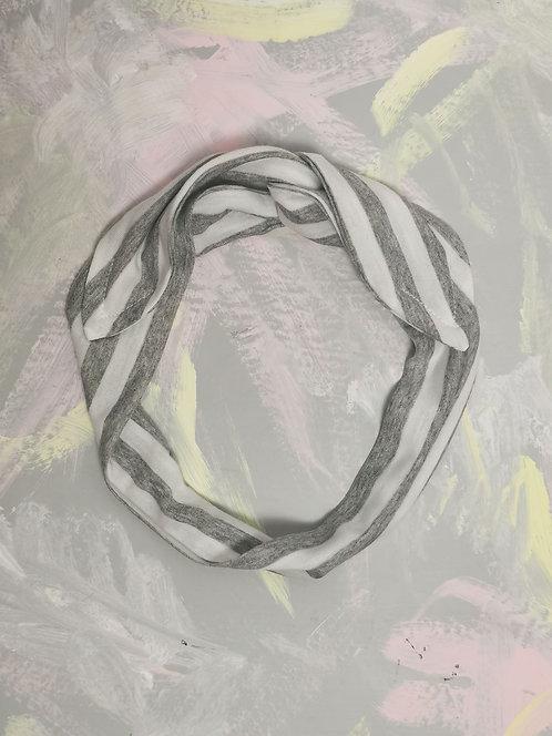 Knotted Headband - Grey Stripe