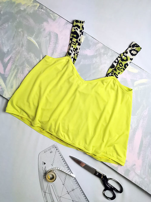 Chartreuse Yellow Gathered Camisole - Size S