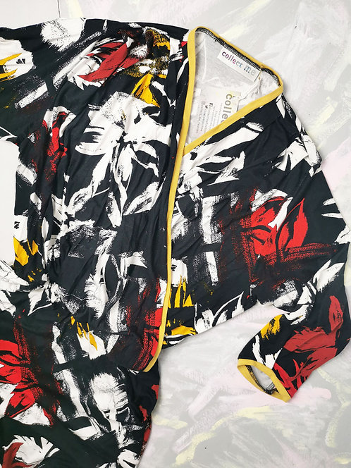 Black Abstract Dream Jumpsuit - Size S