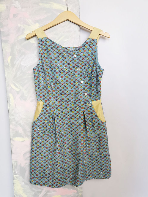 Baby Blue Pinafore Dress -Size 10