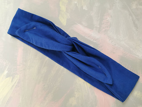 Knotted Headband - Cobalt Blue
