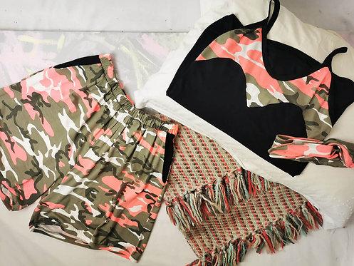 Neon Camo Pyjama Set - Size S