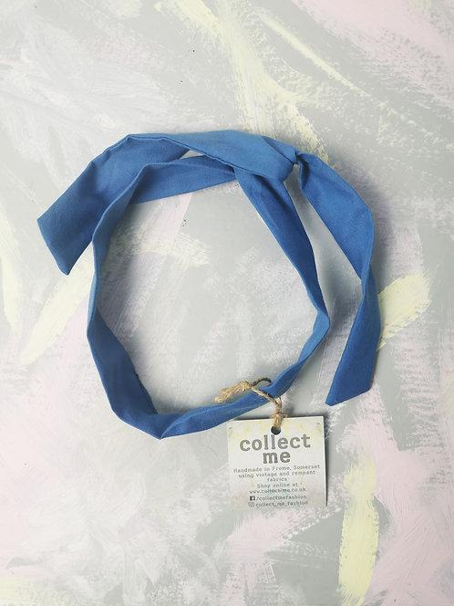 Twisty Wire Headband - Blue