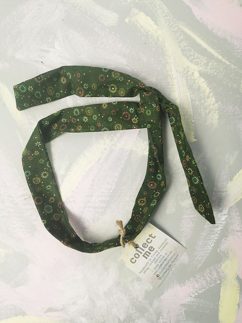 Twisty Wire Headband - Forest Green