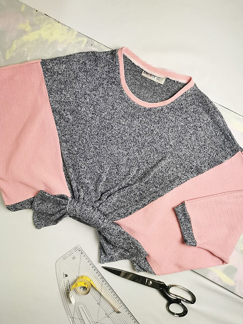 Pink and Blue Loophole Jumper - Size M