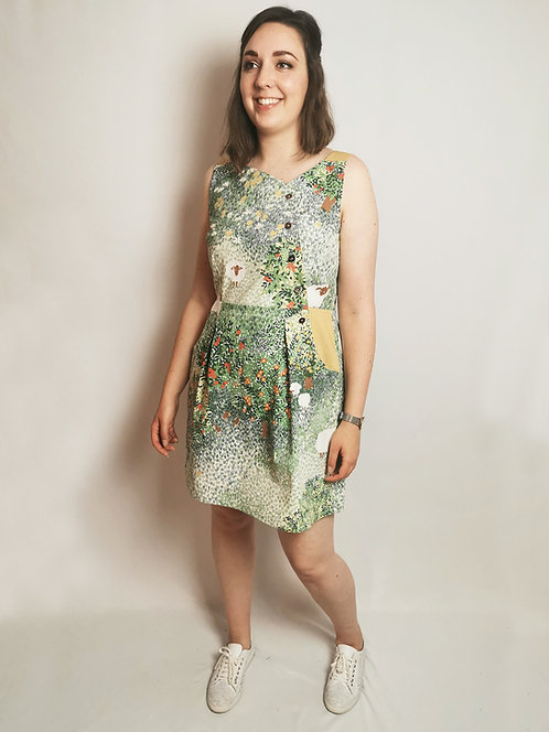 Orchard Print Pinafore Dress -Size 16