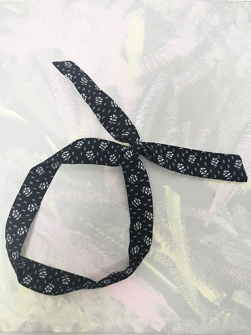 Twisty Wire Headband - Navy