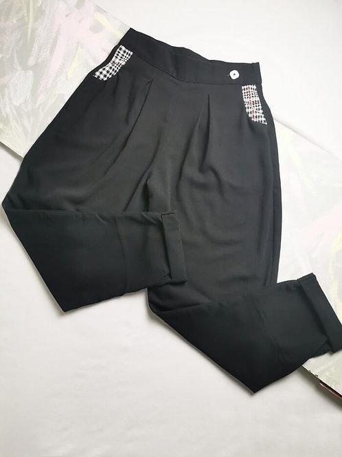 Black Peg Leg Trousers - Size 10