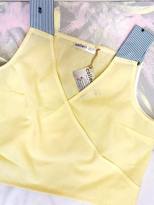 Yellow Polka Daydreamer Top - Size L