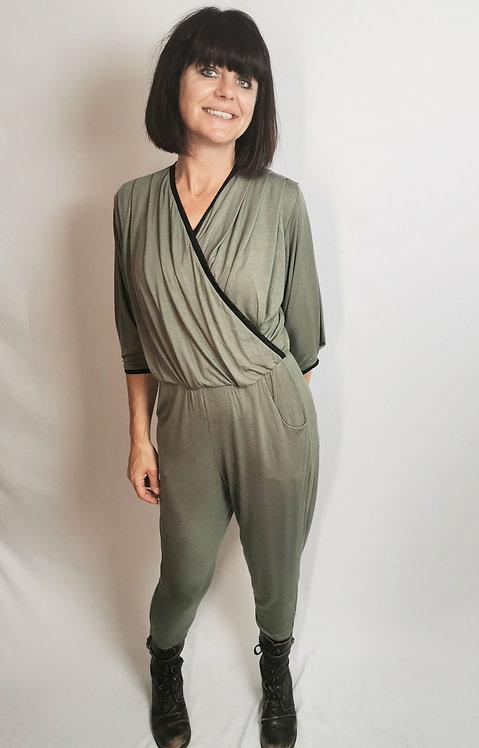 Khaki Dream Jumpsuit - Size S