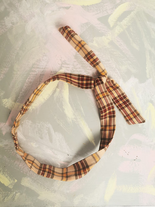 Twisty Wire Headband - Gold Check