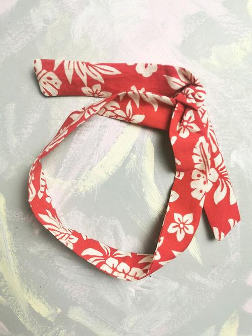 Twisty Wire Headband - Red Tropical