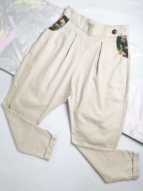 Sand Peg Leg Trousers - Size 8