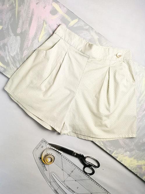 Lemon Yellow Polka High Waisted Shorts - Size 10