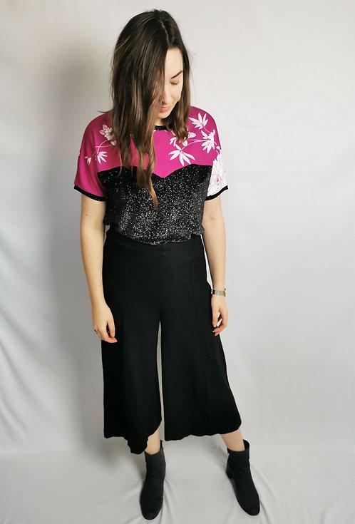 Fuschia Sparkle Heart T-Shirt - Size M