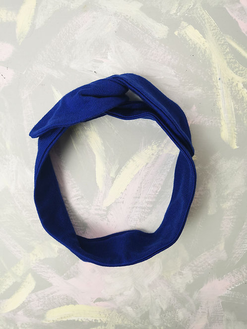 Cosy Knotted Headband - Royal Blue