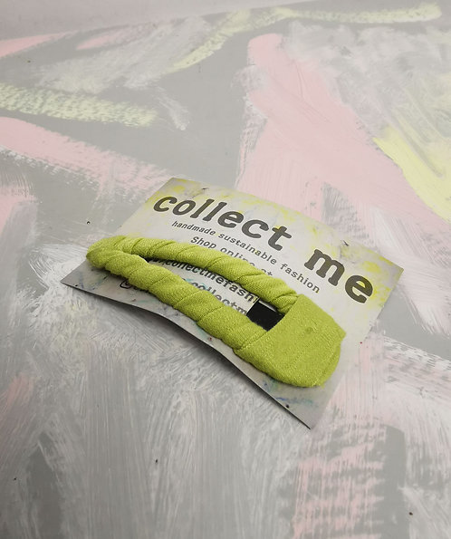 Hair Clip - Chartreuse Yellow