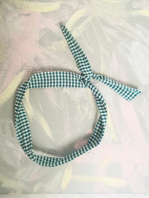 Twisty Wire Headband - Gingham