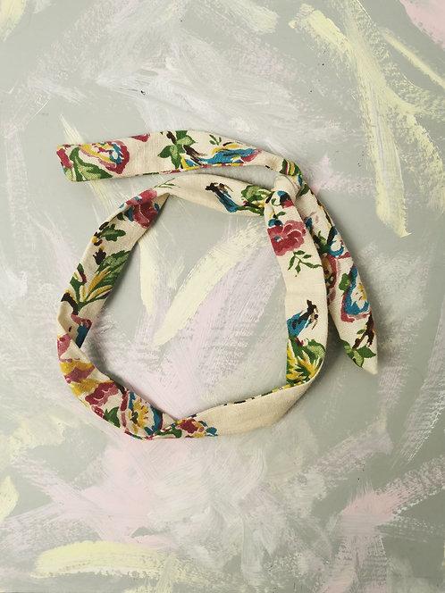 Twisty Wire Headband - Multi Flowers