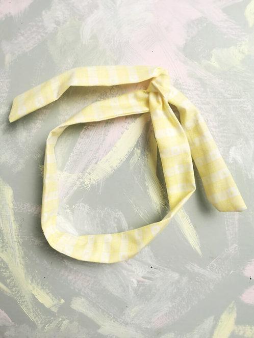 Twisty Wire Headband - Yellow Check